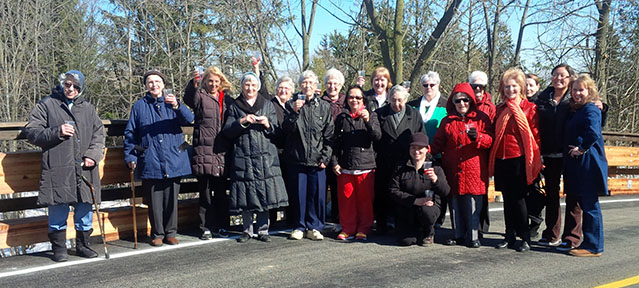 Grande Opening of the Snake Road Bridge with Sister's of Notre Dame house – Cropped