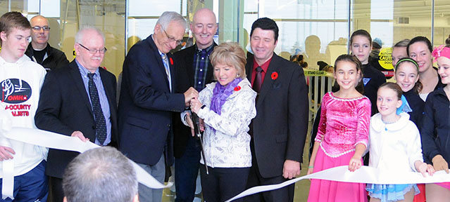 Harry Howell Arena ribbon cutting – cropped