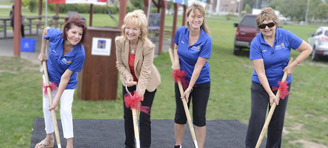 Waterdown Memorial Park Rotary Skating Loop Ground Breaking