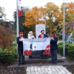 Raising the Poppy Flag at the Waterdown Legion